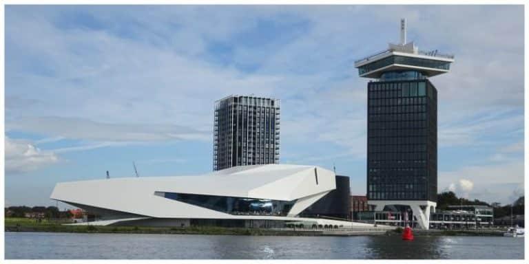 Amsterdam Noord vanaf het water